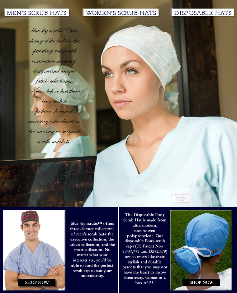 Surgical Scrub Hats and Caps for Women and Men for the OR