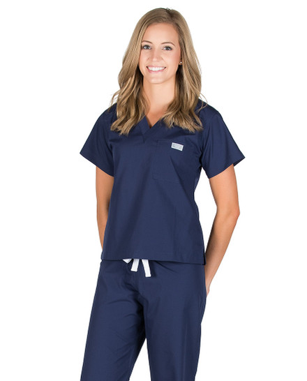 Navy Scrub Top
