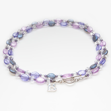 Lavender Lilies blue sky Luxe Lanyards