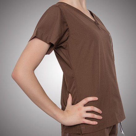 Chocolate Original Scrub Tops