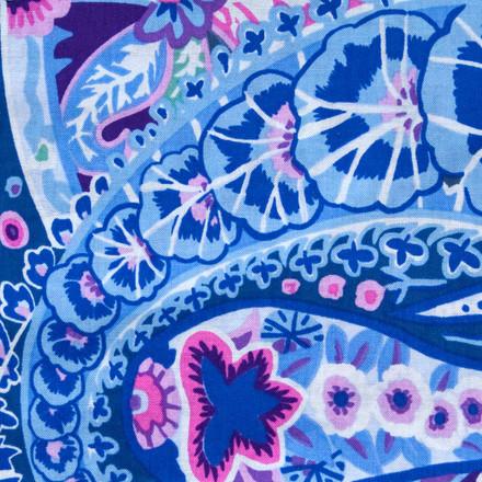 Bradbury Paisley blue sky scrubs Poppy Scrub Cap