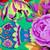 A Dozen Roses Poppy Scrub Hat blue sky scrubs A Dozen Roses blue sky scrubs Poppy Scrub Cap