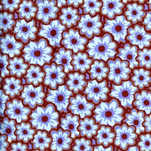 Chestnut Floral blue sky scrubs Poppy Scrub Cap