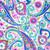 Huffington Paisley Poppy Scrub Hat blue sky scrubs Image 1