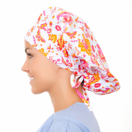 Bailey Blooms Poppy Scrub Hat