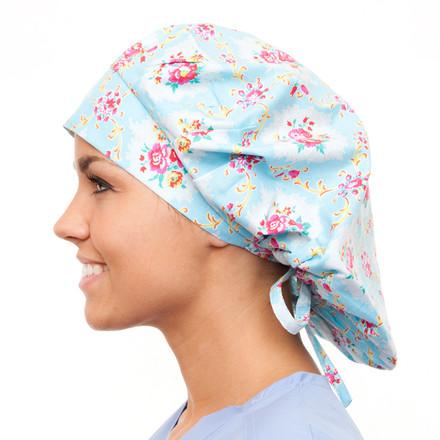 Ashlyn Floral Poppy Scrub Hat