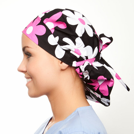 Brooklyn Blooms Poppy Scrub Hat