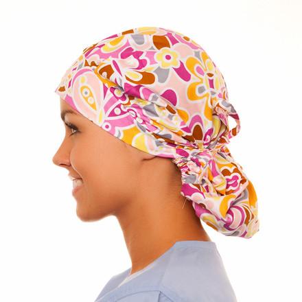 Sutherland Floral Poppy Scrub Hat