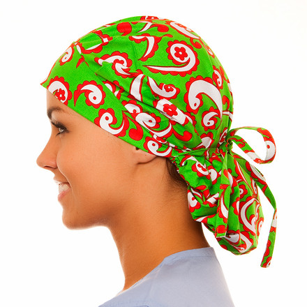 Mistletoe Poppy Scrub Hat