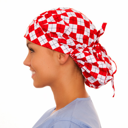 Aldridge Argyle Poppy Scrub Hat