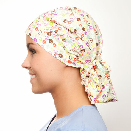 Peace of Mind Poppy Surgical blueskyscrubs.com Hat