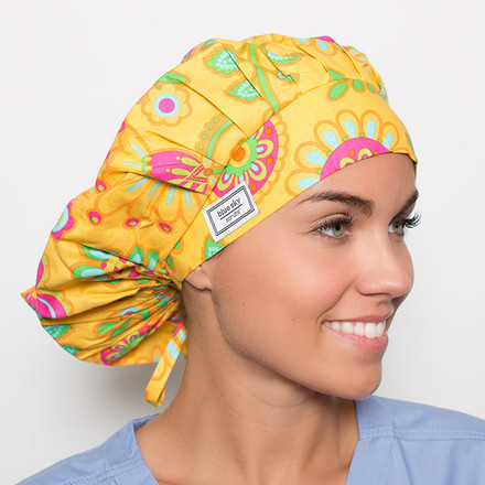 Sunny Vista Poppy Scrub Hat