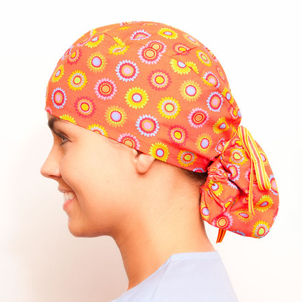 Orange Slush Pony Scrub Hat