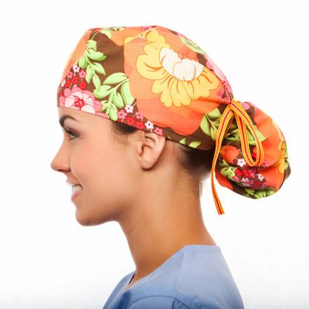 Bradley Floral Pony Scrub Hat
