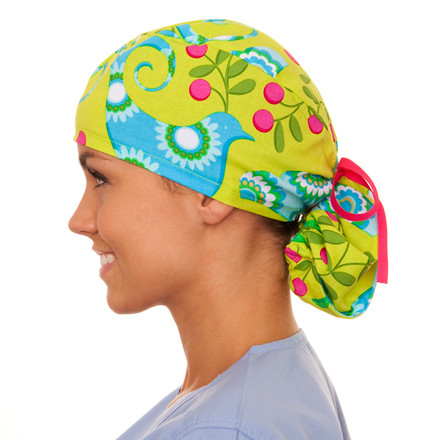 Connelly Floral Pony Scrub Hat