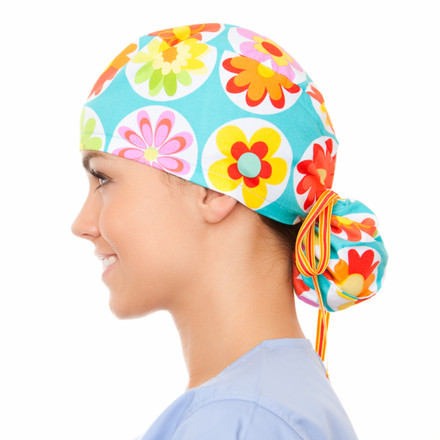 Bloom Pony Scrub Hat