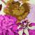 Westchester Floral Pony Scrub Hat blue sky scrubs Image 1