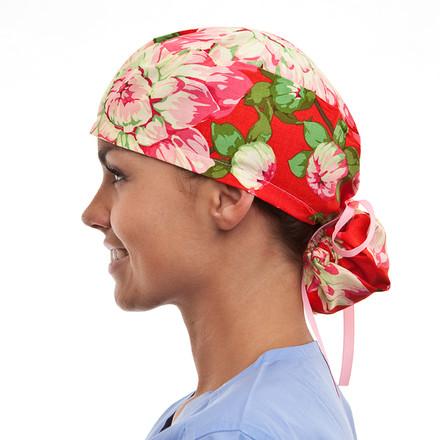 Grandeville Blooms Pony Scrub Hat