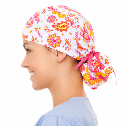 Bailey Blooms Pony Scrub Hat