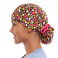 Spicy pony tail surgical scrub hat for women