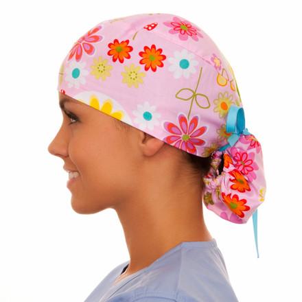 Hattie Floral Pony Scrub Hat