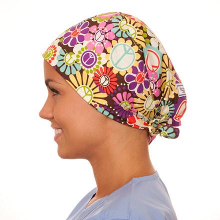 Bohemian Blooms Pixie Scrub Hat