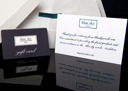 $20 blue sky scrubs Gift Certificate