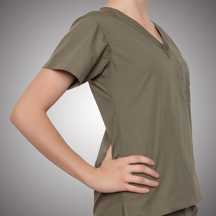 Olive Scrubs Top