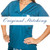 Teal Scrubs Top - XS blue sky scrubs Image 1