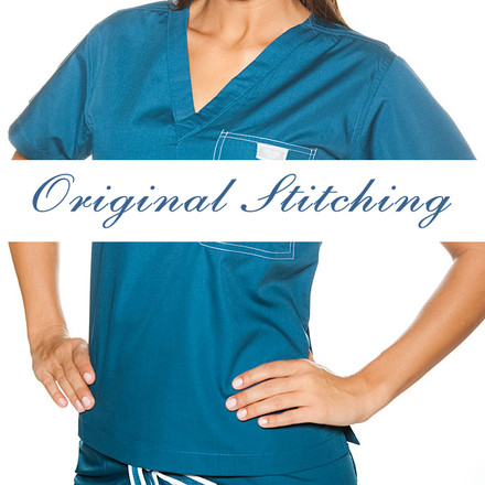 Teal Scrubs Top - M