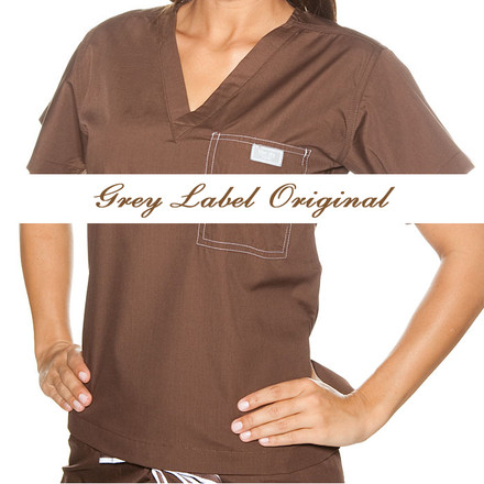 Chestnut Scrubs Top - L