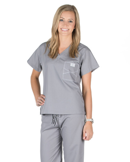 Slate Grey Shelby Scrub Tops