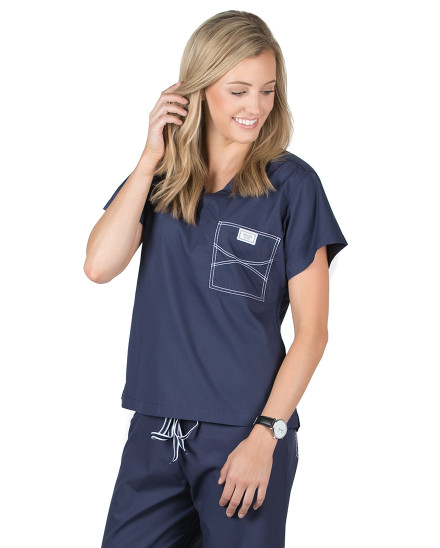 Navy Blue Shelby Scrub Tops