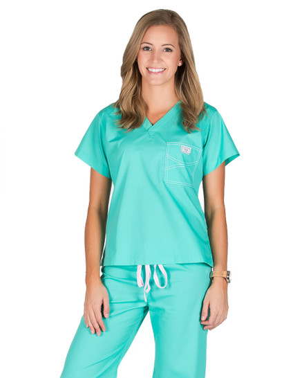 Carnegie Green Shelby Scrub Tops