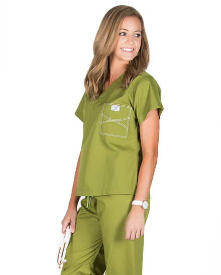 Olive Green Shelby Scrub Tops