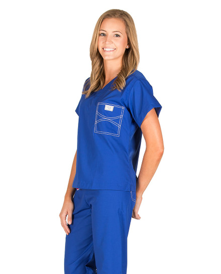 Royal Blue Shelby Scrub Tops