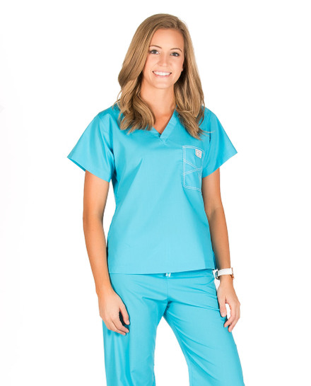 Peacock Shelby Scrub Tops