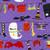 Spooky Clothesline Poppy Scrub Hat blue sky scrubs Image 1