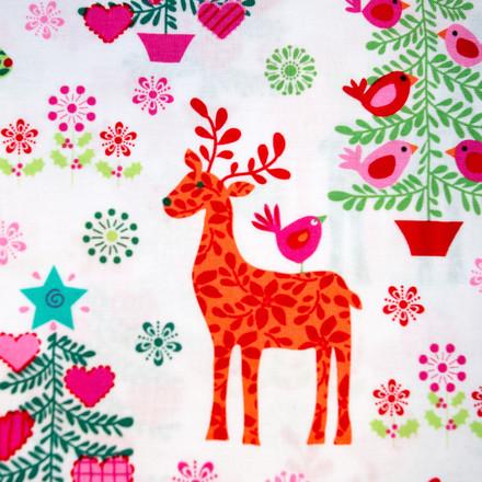 Caribou Christmas Pony Scrub Hat