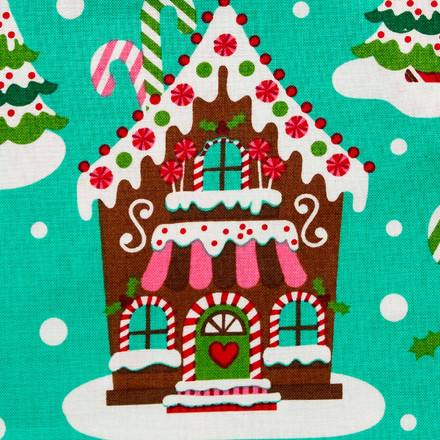 Gingerbread House Pony Scrub Hat