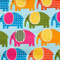 Elephant Crossing Poppy Scrub Hat by blueskyscrubs.com