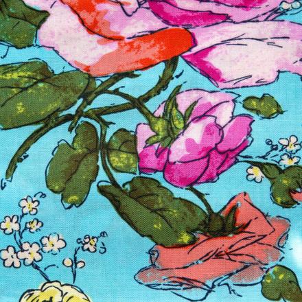Brenham Floral Poppy Scrub Hat