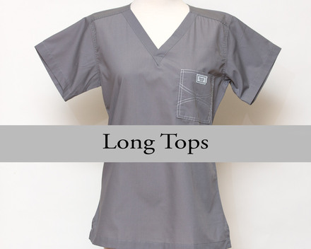 XXS Womens Long Shelby Scrub Tops