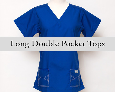 Large Womens Long Double Pocket Tops