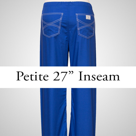 Medium Womens Petite Shelby Scrub Pants