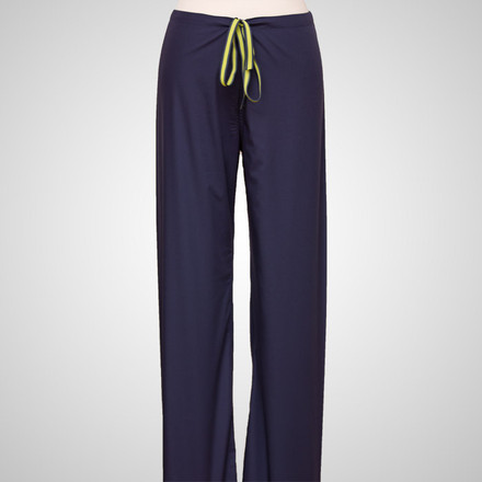 Navy Blue Original Scrub Bottoms with Lime Green Stitching