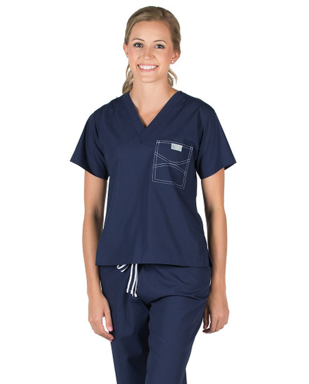 Navy Shelby Scrubs Top