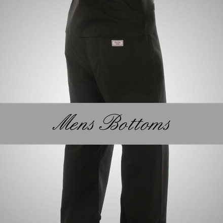 Medium Mens Petite Simple Scrub Pants