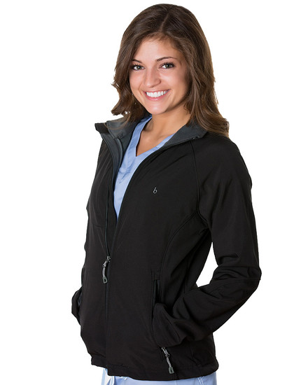 Black Oxford Soft Shell Jacket