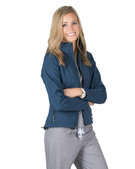 Cadet Blue Oxford Soft Shell Jacket